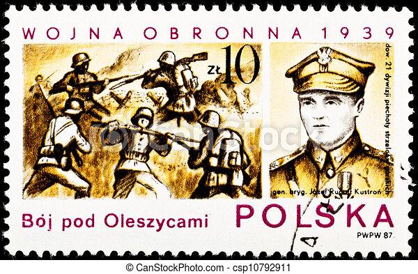 Battle Oleszyce Poland Gen. Josef Kustron - csp10792911