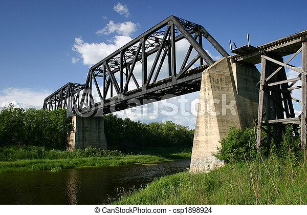 Battle River Train Bridge - csp1898924