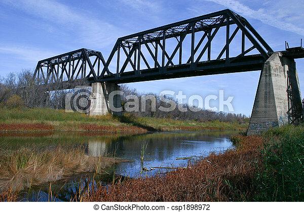 Battle River Train Bridge - csp1898972