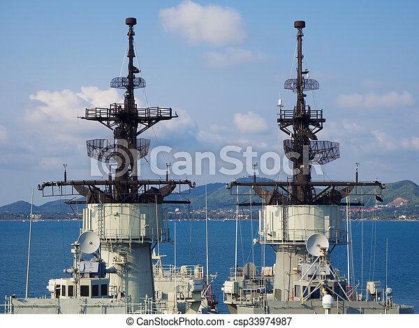 battle ship radar - csp33974987