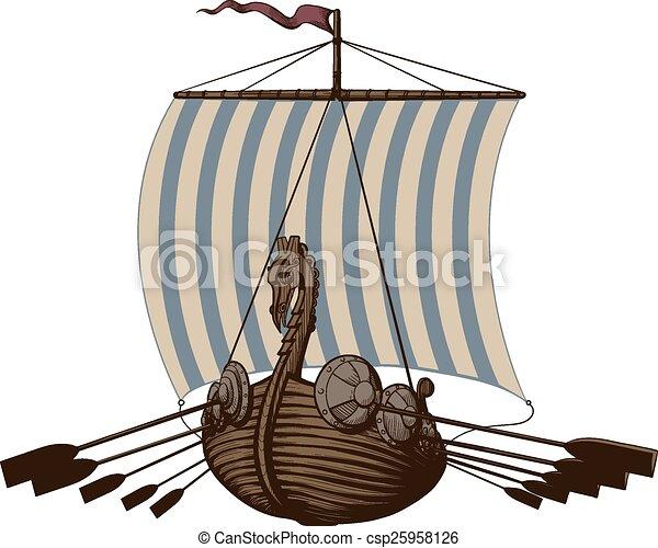 Battle Viking Ship - csp25958126