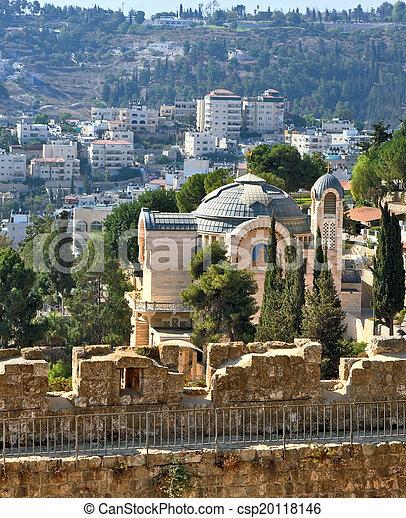 Battlements of Jerusalem - csp20118146