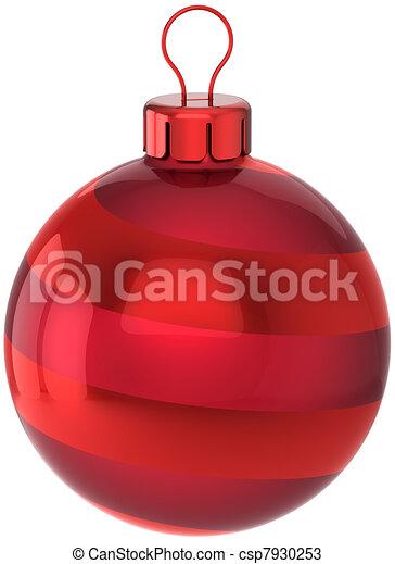 Bauble Bola Colorido Vermelho Natal Detalhado Fundo