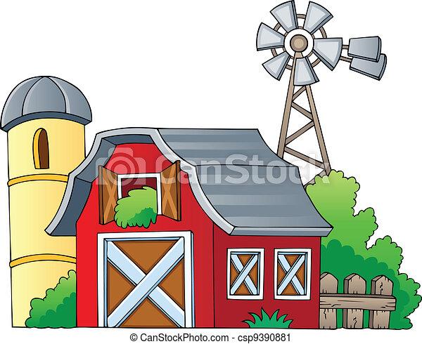 Bauernhof 1 Thema Bild Illustration Bauernhof Bild Vektor