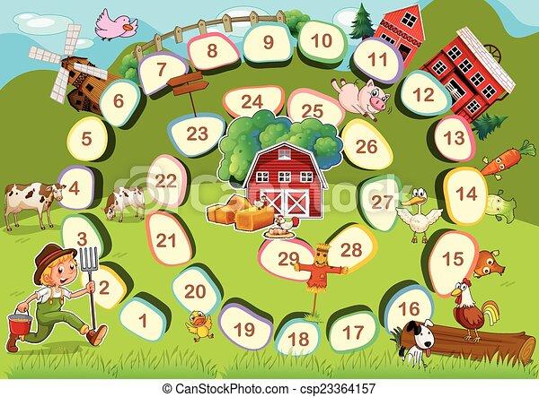 Farm Brettspiel - csp23364157