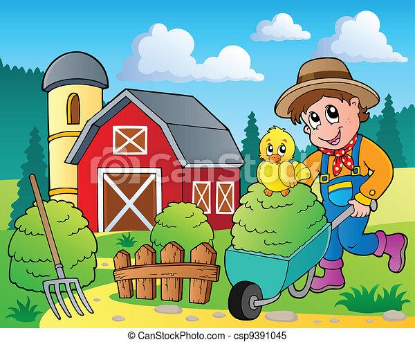 Bauernhof Thema Bild 7 Illustration Bauernhof Bild Thema