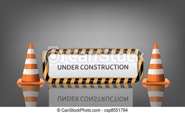 Bauarbeiten - csp8551794