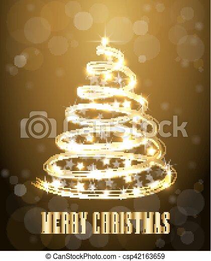 Weihnachtsdeko Lichter.Baum Illustration Banner Karte Neon Weihnachtsdeko Lichter Glühen Vektor Linie Weihnachten Swirl