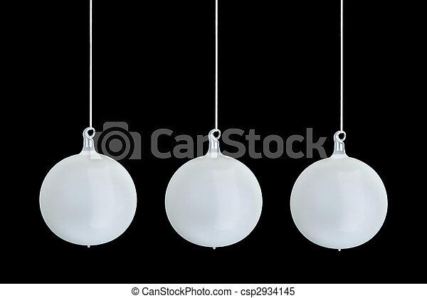 stockbilder von baum milch kugel weihnachten glas kugeln baum drei csp2934145. Black Bedroom Furniture Sets. Home Design Ideas