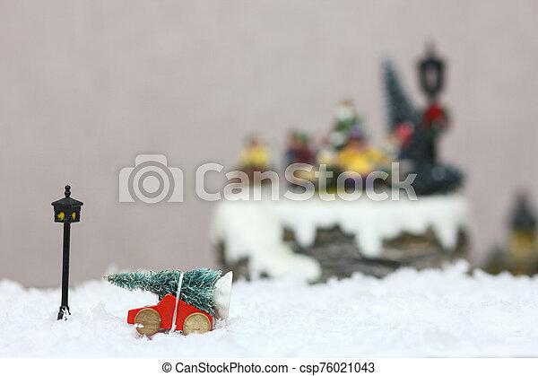 baum, spielzeug, weihnachten, auto - csp76021043