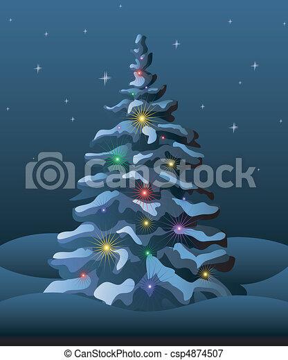 Weihnachtsbaum - csp4874507
