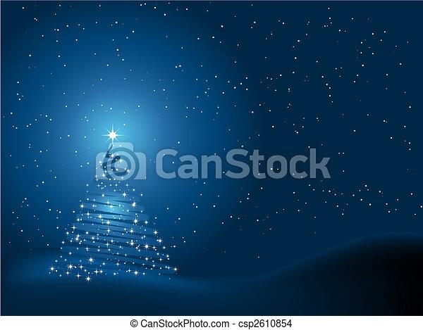 baum, weihnachten, hintergrund - csp2610854