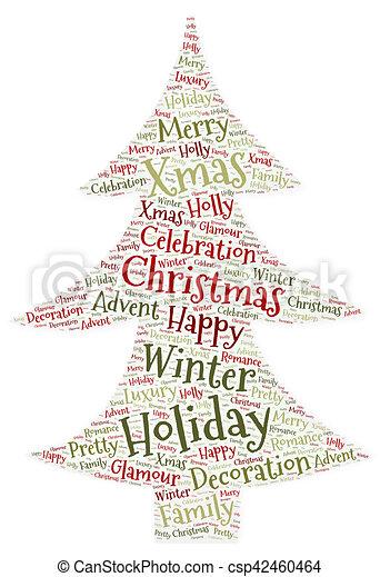 Baum, wort, weihnachten, wolke. Baum, form, wort, weihnachten, wolke.