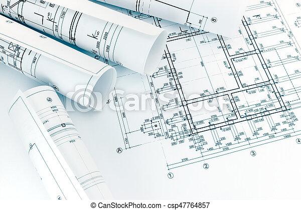 Suche Architekten bauplaene boden architekten brötchen architektur stockbilder