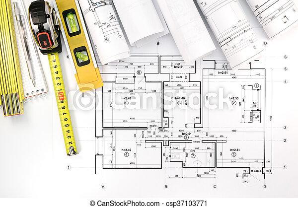 bauplaene haus technik plan architektonische werkzeuge bild suche foto clipart. Black Bedroom Furniture Sets. Home Design Ideas