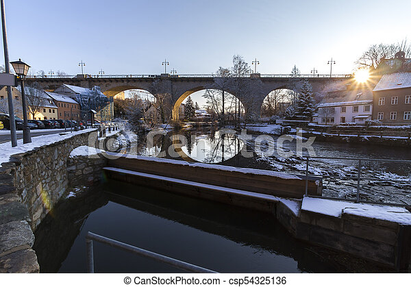 bautzen germany in the winter - csp54325136