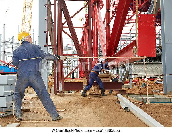 Bauarbeiter Vierer