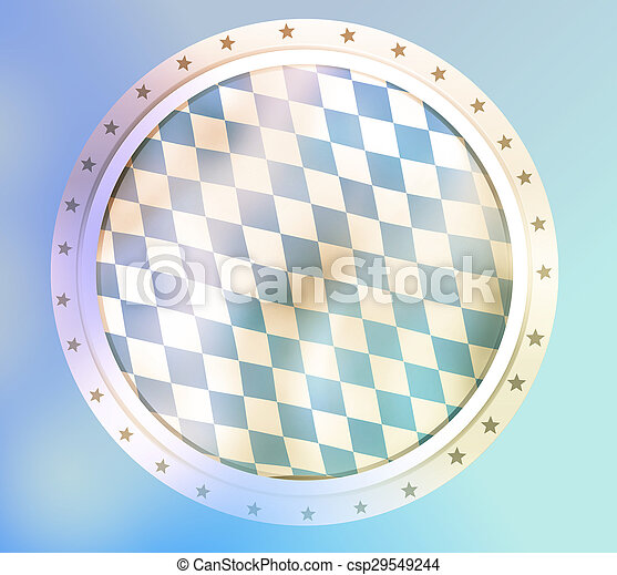 Bavaria Flag Design Round - csp29549244