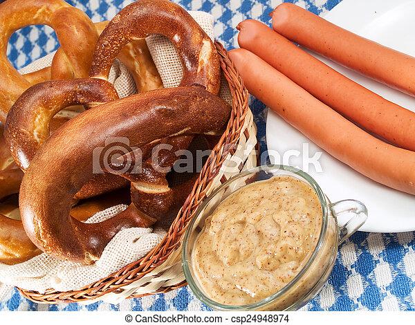 Bavarian food - csp24948974