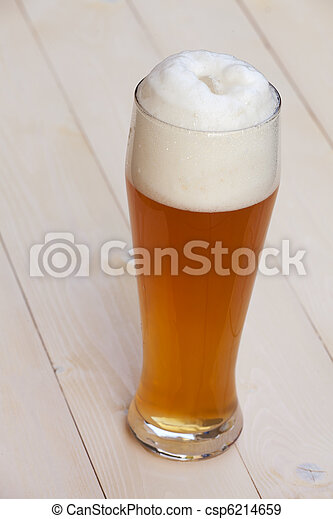 bavarian wheat beer in a glass - csp6214659