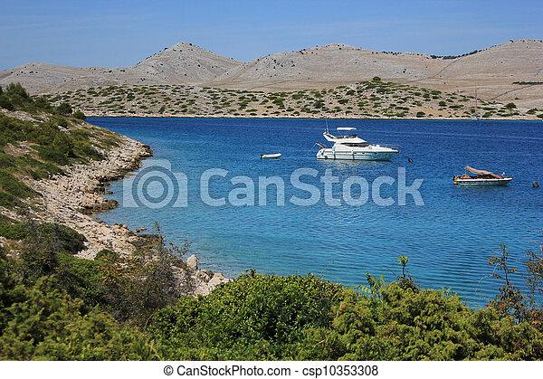 bay in Kornati natural park, Croatia - csp10353308