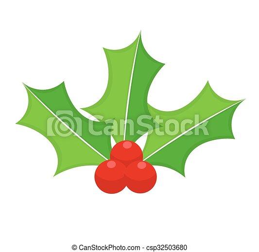 Holly Berry icono - csp32503680