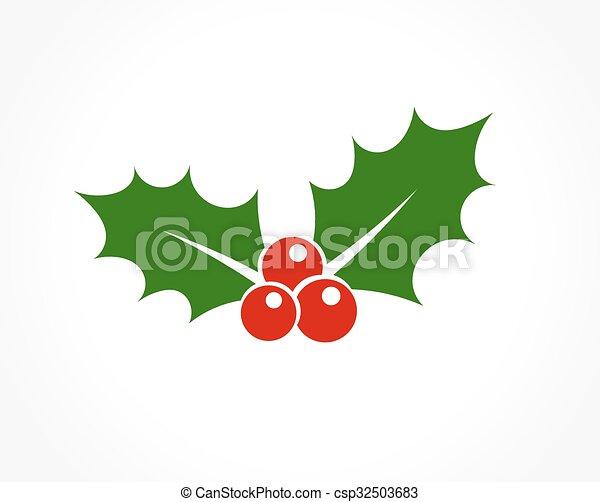 Holly Berry icono - csp32503683
