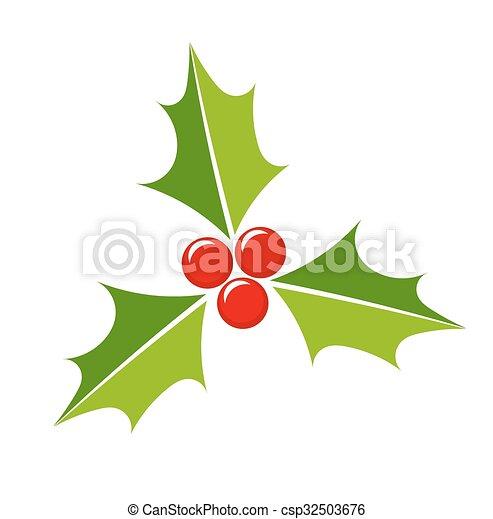 Holly Berry icono - csp32503676
