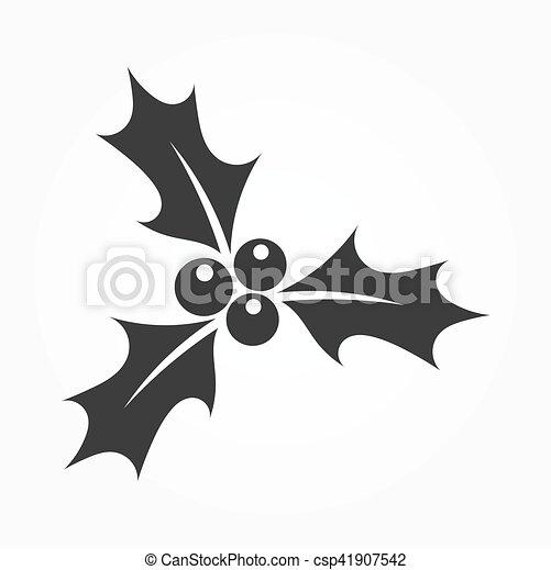 Holly bayas icono - csp41907542