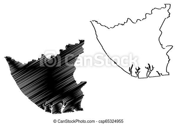 Bayelsa State map - csp65324955