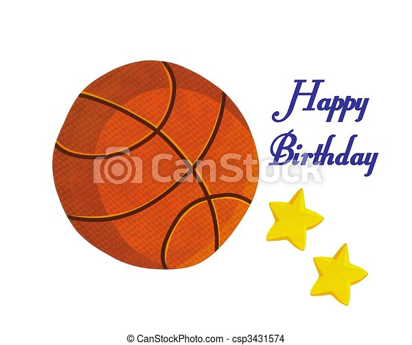 Bbasketball happy birthday card beautiful basketball happy bbasketball happy birthday card csp3431574 bookmarktalkfo Image collections