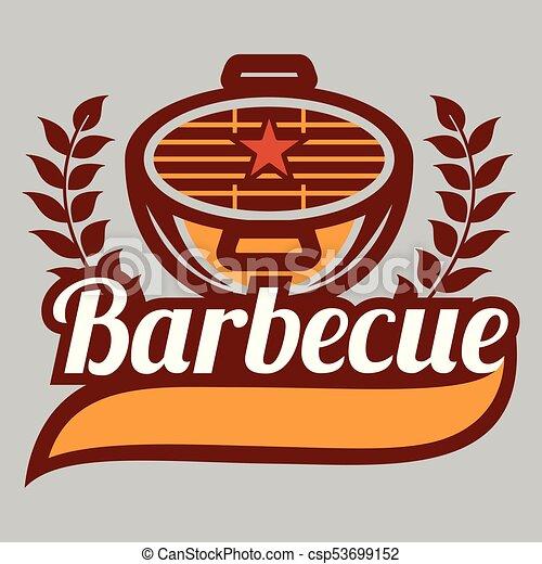 BBQ Barbecue Logo Vector Image - csp53699152