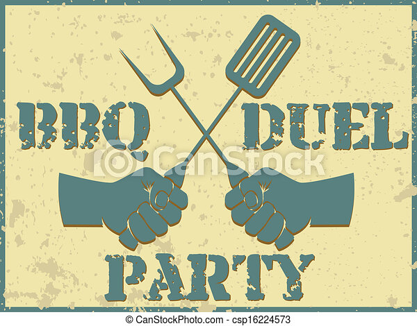 BBQ duel party - csp16224573