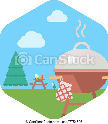 BBQ Grill Party. - csp27754806