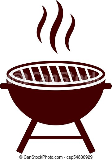 bbq grill vector icon isolated on white background rh canstockphoto com bbq victor ny bbq victor idaho