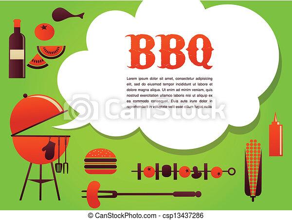BBQ illustration - csp13437286