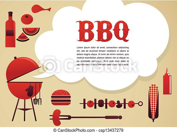 BBQ illustration - csp13437279