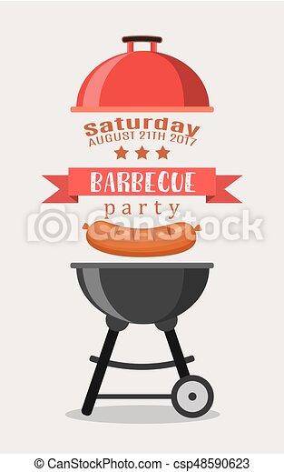 Bbq or barbecue party invitation - csp48590623
