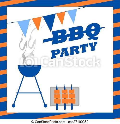 BBQ Party Invitation - csp37109359