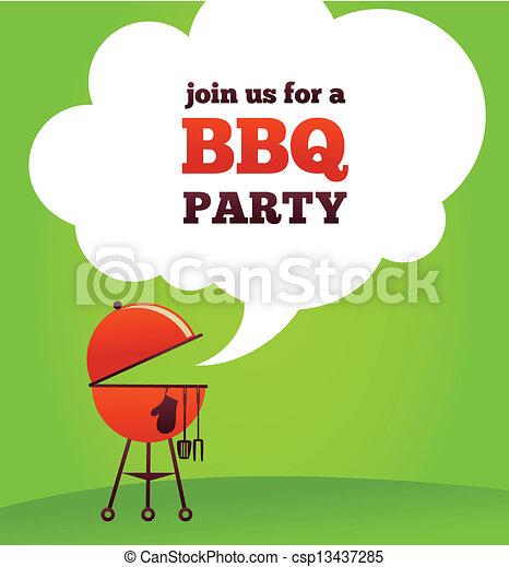 BBQ Party invitation - csp13437285