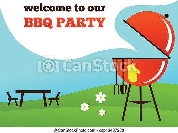 BBQ Party invitation - csp13437288