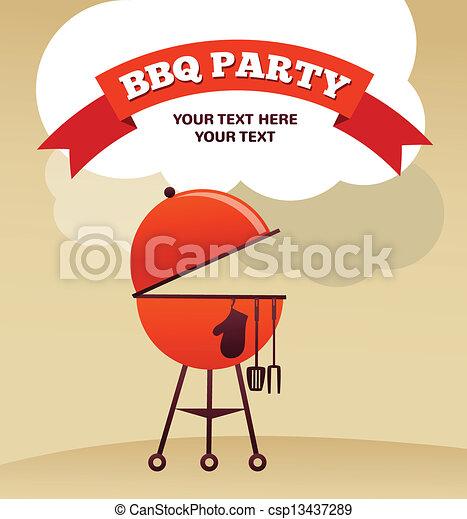 BBQ Party invitation - csp13437289