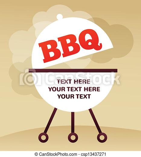 BBQ Party invitation - csp13437271