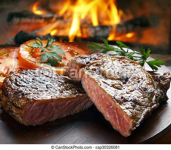 BBQ steak - csp30326081