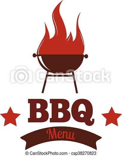 bbq vector illustration set barbecue logo and grill labels set rh canstockphoto com bbq vector free download bbq victoria texas