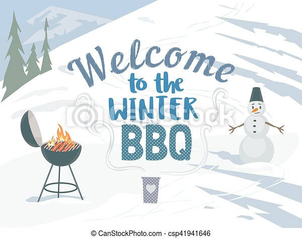 BBQ winter picnic - csp41941646