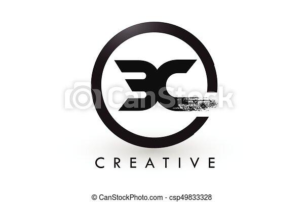 Bc Brush Letter Logo Design Creative Brushed Letters Icon Logo Bc