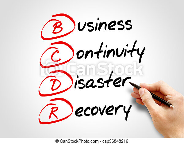 BCDR - Business Continuity Disaster Recovery - csp36848216