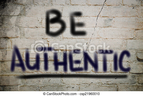 Be Authentic Concept - csp21960010