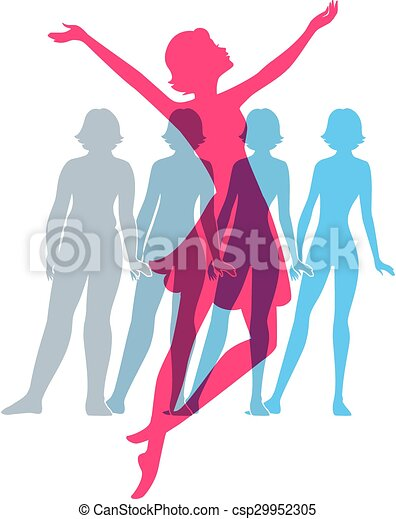 Be Fit Woman Silhouette Images Canstock Most relevant best selling latest uploads. can stock photo